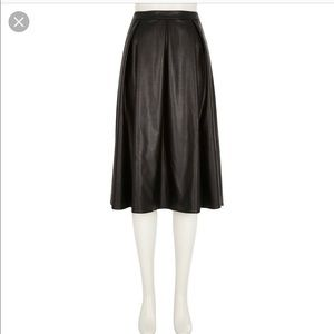 River Island Midi faux leather skirt
